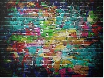 Graffiti tiiliseinä Juliste