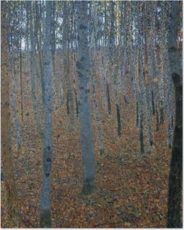 Gustav Klimt - Koivumetsää Juliste