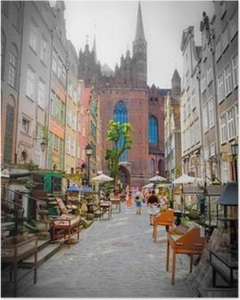 Historiallinen kaupunki gdanskin Juliste