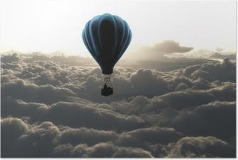 Ilma ilmapallo taivaalla Juliste