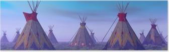 Indian leiri aamunkoitteessa Juliste