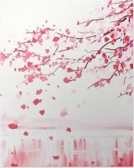 Japanilainen kirsikkapuuta Juliste