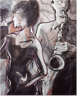 Jazzbändi tanssijoilla Juliste