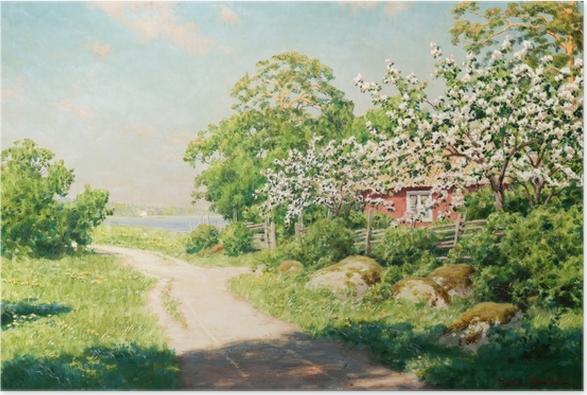 Johan Krouthén - Tie maaseudulla Juliste - Reproductions