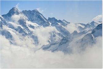 Jungfraujoch alpit vuoristomaisema Juliste