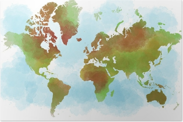 Kartta Maailma Suunnitelma Kasinpennut Juliste Pixers