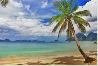 Kaunis rentouttava trooppinen maisema Juliste