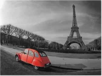 Kiertue eiffel et voiture rouge-paris Juliste