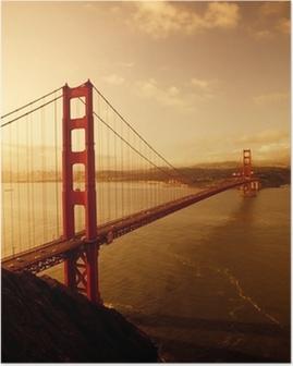 Kultainen porttisilta, san francisco, kalifornia Juliste
