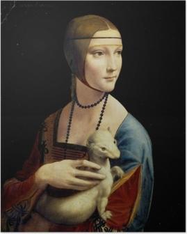 Leonardo da Vinci - Nainen ja kärppä Juliste