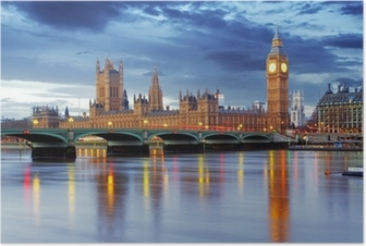 London - iso ben ja parlamenttitalot, uk Juliste
