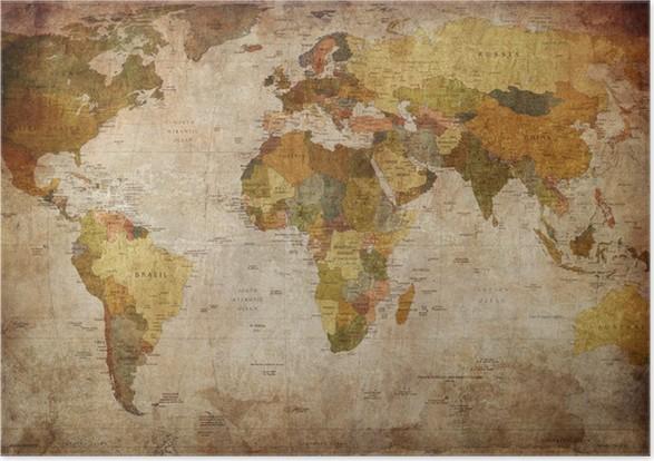 Maailmankartta Juliste -