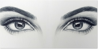 Naisen silmät Juliste