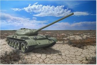 Neuvostoliiton säiliö t-54 vuodelta 1946 Juliste
