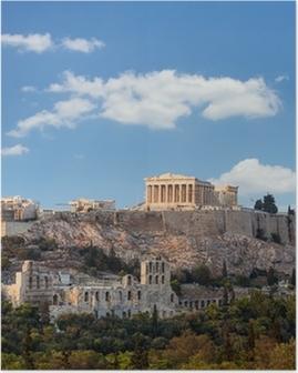Parthenon, akropolis - athens, kreikka Juliste