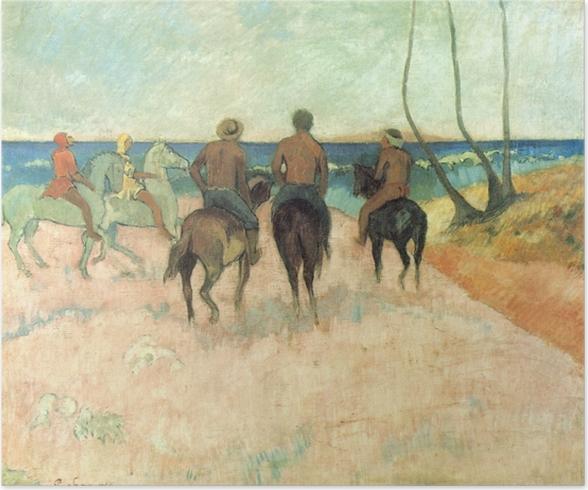 Paul Gauguin - Riders on the Beach Juliste -