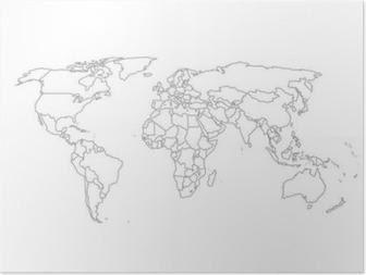 Poliittisen maailman kartta Juliste