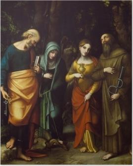 Pyhimykset peter, martha, mary magdalen ja leonard Juliste