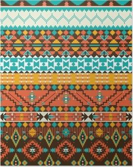 Saumaton navajo geometrinen kuvio Juliste