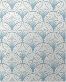 Saumaton retro japanilainen kuvio rakenne Juliste