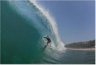 Surfing putki ratsastaa suuri aalto Juliste
