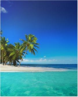 Taide kaunis seaside näkymä taustalla Juliste