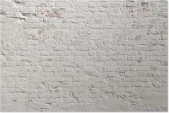 Valkoinen grunge tiiliseinä taustalla Juliste