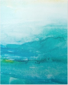 Värien lyöntiä vesiväri maalaus art Juliste