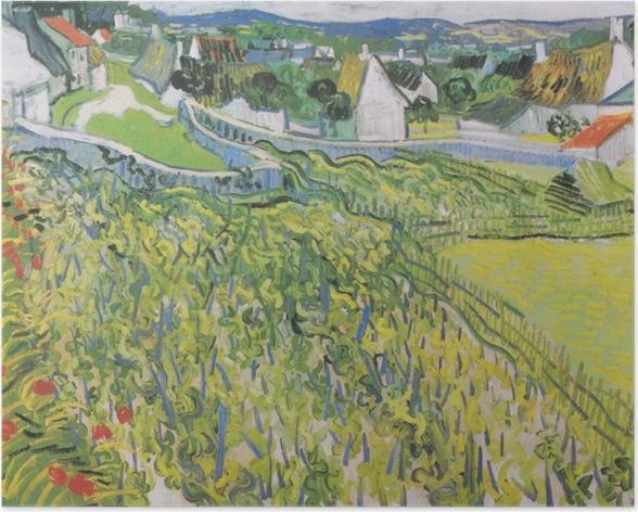 Vincent van Gogh - Viinitilojen Auvers Juliste - Reproductions