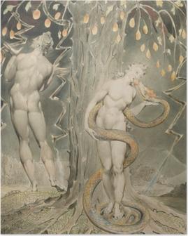 William Blake - Eve houkuttelemana Serpent Juliste