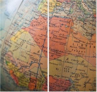 Afrikka Ja Eurooppa Kartta Osa Vanhaa Maapalloa Kangaskuva