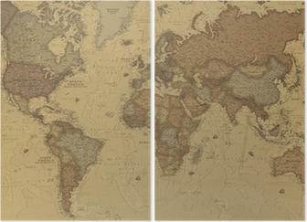 Muinainen maailmankartta Kaksiosainen