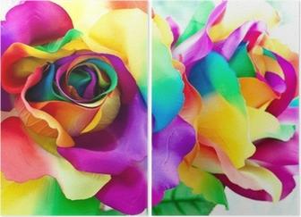 Väärennetty ruusukukka Kaksiosainen