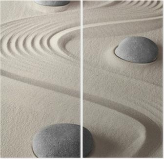 Zen-puutarha Kaksiosainen