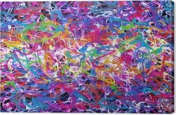 Abstrakti graffiti Kangaskuva