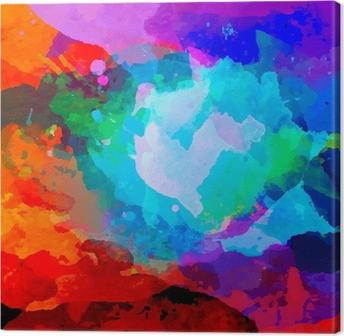 Abstrakti vesiväri paletti sekoittaa värejä Kangaskuva