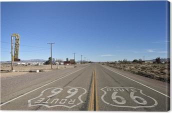 Bagdad california - historiallinen reitti 66 Kangaskuva