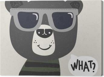 Cool sarjakuva karhu aurinkolasit Kangaskuva