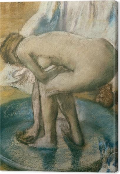 Edgar Degas - Kylvyssä Kangaskuva -