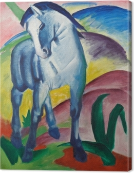 Franz Marc - Sininen hevonen Kangaskuva