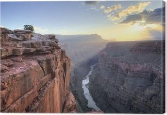 Grand canyon toroweap kohta auringonnousu Kangaskuva
