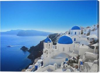 Grèce - santorin (oia kylä) Kangaskuva