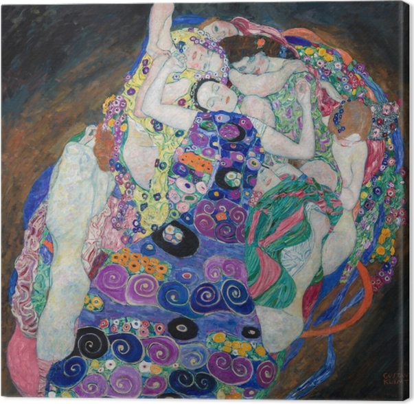 Gustav Klimt - The Maiden Kangaskuva -