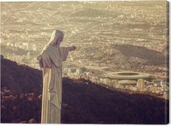 Ilmakuva christ patsasta katsot maracana stadionin Kangaskuva
