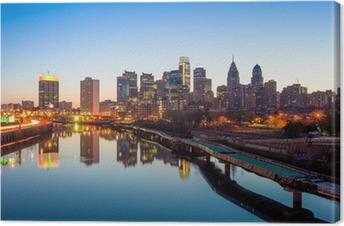 Keskikaupungin horisonttiin philadelphia, pennsylvania. Kangaskuva