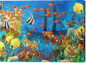 Koralliriutta - kuva lapsille Kangaskuva