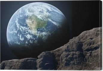 Maa näkyy kuusta Kangaskuva