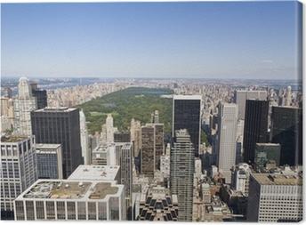 Manhattanista korkeasta näkökulmasta Kangaskuva