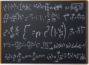 Matemaattiset liitutaulut Kangaskuva