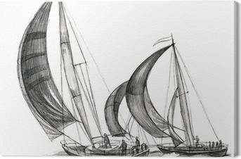 Meri-veneitä Kangaskuva